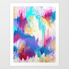 SWEET DREAMS - Lovely Pastel Modern Abstract Art Print by EbiEmporium - $21.00