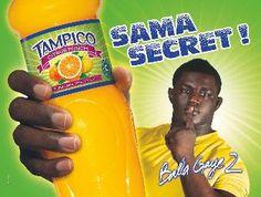 campagne d'affichage pour les boissons Tampico avec Balla Gaye 2 une icône de la lutte sénégalaise (sport méga populaire)