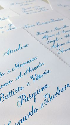 Tableau de mariage - Mitchell nib and Lamy turquoise ink.