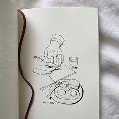Twitter Sketchbook Drawings, Cool Art Drawings, Easy Drawings, Drawing Sketches, Kunstjournal Inspiration, Art Journal Inspiration, Art Inspo, Art Diary, Art Hoe
