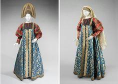 Traditional Russian costume. XIX