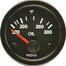 310-106: Vision Black Electrical Engine Temperature Gauge | VDO Gauges | eBuggies.com