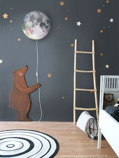 Hartendief lamp #kidslamp and #wallstickers | Kinderkamerstylist.nl