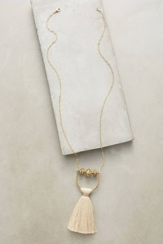 Elixirs Tassel Necklace - anthropologie.com