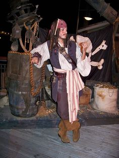 *CAPTAIN JACK SPARROW ~ Pirate Wharf at Mickey's Trick-Or-Treat Party by Loren Javier, via Flickr