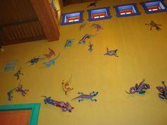 #examinercom Disney's Animal Kingdom Pizzafari quick service restaurant wall art