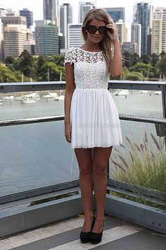 BESTSELLER! SPLENDED ANGEL DRESS , DRESSES, TOPS, BOTTOMS, JACKETS & JUMPERS, ACCESSORIES, 50% OFF , PRE ORDER, NEW ARRIVALS, PLAYSUIT, COLOUR, GIFT VOUCHER,,White,LACE,SHORT SLEEVE,MINI Australia, Queensland, Brisbane $29.50