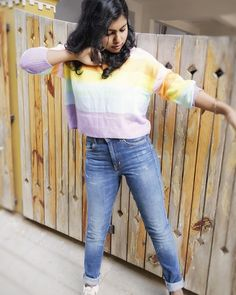 """C y'all today by 4 PM with a """"NEW VIDEO"""" on my channel #linkinbio 🔔📲 #indianyoutuber #indianfashionblogger #stylist #fashioninfluencer #fashionvlogger . . . . . . . . . . #aditystyle #whattowear #sweaterweather #f21xme  #aw2018 #outfitgoals #fashion #style #styleblogger #stylish #lifestyle #lifestyleblogger #photooftheday #ootd #outfitoftheday #outfit #lookoftheday  #streetstyle #fashiongram  #styling  #styleguide #styleinspo #styleinspiration #rainbowsweater"""