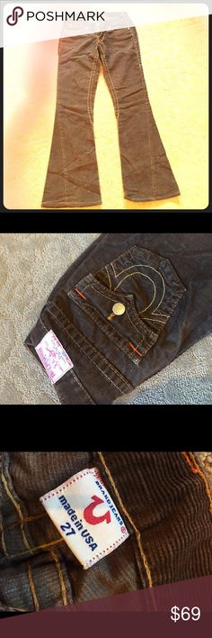 True religion definition make them boys go loco Brown corduroy true religion jeans that look vintage but fit like they're brand new.. Plus bell bottoms are so back in style now True Religion Jeans Flare & Wide Leg
