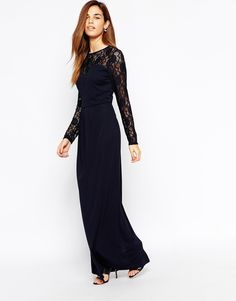 Warehouse Lace Sleeve Maxi Dress Awesome Dresseslace Sleeveswedding Guest