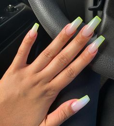 50 Stunning And Gorgeous Summer Coffin Acrylic Nail Designs For Your Inspiration - Page 7 of 50 - Chic Hostess - Coffin nails designs - Best Acrylic Nails, Summer Acrylic Nails, Acrylic Gel, Nail Summer, Coffin Acrylics, Aycrlic Nails, Neon Nails, Glitter Nails, Manicure