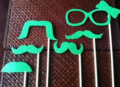 Parade Day/St. Patrick's Day Mustaches... and my lil bow glasses!!