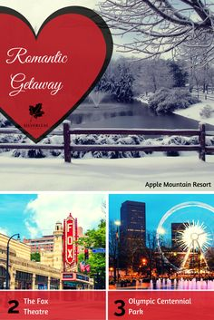 #SilverleafResorts Apple Mountain Resort in Clarkesville, GA is a hop, skip and a jump from Atlanta. Whether you're taking in the quaint town of Clarkesville, catching a show at the Fox Theatre, or listening to live music at the Olympic Centennial Park, there are plenty of intimate opportunities to share with your loved one. #RomanticGetaway #Atlanta