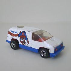 Vintage Hot Wheels Spider-Man Van, 1970s Toy Car / Van - Marvel, Mattel, diecast, kids toy, superhero, comic hero, dad gift, sci fi, via Etsy.