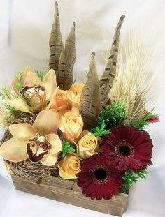 Floral Thanksgiving Centerpiece