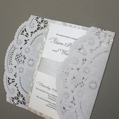 Laced Affairs Wedding Invitation Set by Shanon Medley | Flickr - Photo Sharing!