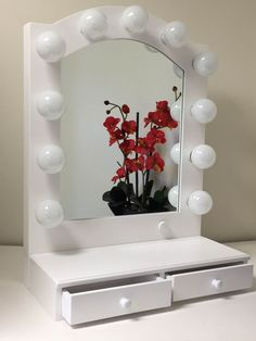 Makeup table, vanity mirror, Hollywood vanity girl, lighted mirror ...