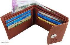 Wallets Men's Stylish PU Leather Wallet  *Material* PU Leather  *Size* Free Size  *Card Slots* 6  *Compartments* 2  *Coin Pouch * 1  *Description* It Has 1 Piece Of Men's Wallet  *Pattern* Solid  *Sizes Available* Free Size *   Catalog Rating: ★4 (130)  Catalog Name: Men's Stylish PU Leather Wallets Vol 3 CatalogID_128039 C65-SC1221 Code: 922-1051318-