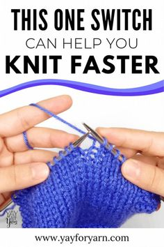 Have you ever wanted to knit faster? This technique might be the solution for you! Have you ever wanted to knit faster & more efficiently? Continental Knitting just might be the solution for you! Knitting Basics, Knitting Help, Knitting Stiches, Knitting Blogs, Loom Knitting, Knitting Tutorials, Knitting Ideas, Knitting For Beginners Projects, Knitting And Crocheting