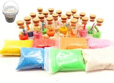 Guaishou DIY Arts and Crafts Kit Wishing Bottles Art Glass Bottles with Cork Colorful Rainbow Sand Sea Shells Mixed Beach Seashells (Vial A) Arts And Crafts Kits, Craft Kits For Kids, Diy For Kids, Crafts For Kids, Craft Ideas, Diy Ideas, Wine Bottle Crafts, Bottle Art, How To Make Sand