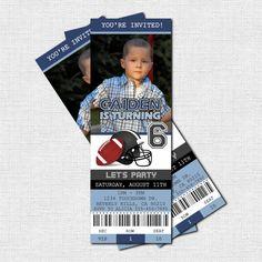 Denver Broncos Birthday Party Event Ticket Invitation 2 5