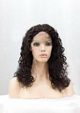 Nice 14Inch Curly Remy Human Hair Full Lace Wig