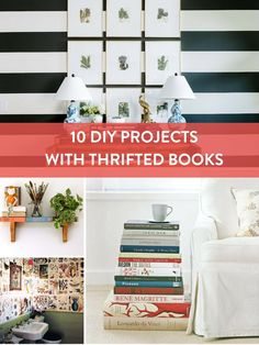 Roundup: 10 Projects to Do With Thrifted Books...Besides Reading
