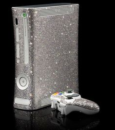 Xbox completely studded with 11, 520 Swarovski crystals -- and it only took 72 hours to do!
