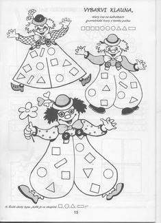 Clown Cirque, Le Clown, Petite Section, Teaching Shapes, Diy And Crafts, Arts And Crafts, Circus Party, Eyfs, Math Worksheets