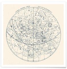 Carte du monde affiche de chez junique