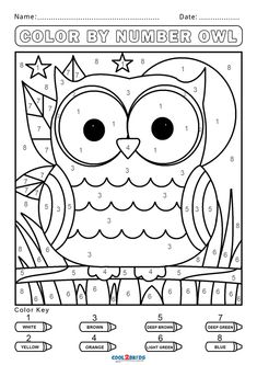Free Color by Number Worksheets | Cool2bKids Kindergarten Coloring Pages, Kindergarten Colors, Preschool Colors, Numbers Preschool, Kindergarten Reading, Free Printable Coloring Pages, Free Coloring Pages, Coloring Books, Alphabet Coloring