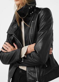 Кожаная байкерская куртка с молниями - Куртки - Женская   OUTLET Россия (Российская Федерация) Summer 2016, Leather Jacket, My Style, Jackets, Fashion, Studded Leather Jacket, Down Jackets, Moda, La Mode