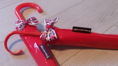 Ladies and Girl's Umbrella with Matching Reign Brolly Cover Sets Red PVC with Union Jack Print Bow, Large Flag Ladies Umbrella