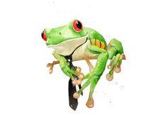 Rachel Walker- Tie wearing frog