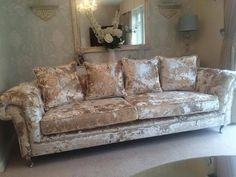 The Chelsea Collection #exclusive #sofa #crushed #velvet #glam #sparkles