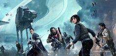 Star Wars Anthology: Rogue One - Promotional art with Diego Luna, Donnie Yen, Wen Jiang, Felicity Jones & Riz Ahmed