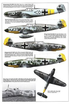 Bf 109 F, F1, F2, F4 and F4 Trop variants (6) | GLORY. The largest archive of german WWII images | Flickr