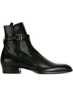 7042b62f92c SAINT LAURENT SAINT LAURENT 'HEDI' ANKLE BOOTS - BLACK. #saintlaurent #shoes