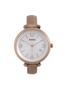 Fossil watch in a neutral color with a nice thin strap BIRTHDAY GIFT!