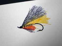 Yellow Fly Fishing Note Cards with Envelopes | Gifts for Men - Made in the USA | Owen & Fred
