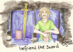 Magnus Chase And The Sword Of Summer: befriend the sword (but well, you know: this is not shipping!!!) by Akki