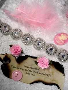 """0379 Crystal Silver Round Jewel Rhinestone Beaded Trim 1.25""""  ( Use for Sewing and Crafts )"""