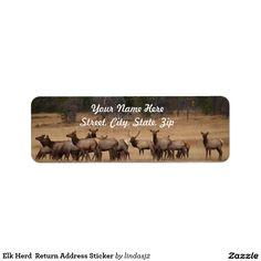 Elk Herd  Return Address Sticker Return Address Label http://www.zazzle.com/elk_herd_return_address_sticker_label-106532848654966963?rf=238422108808086726&CMPN=zBookmarklet