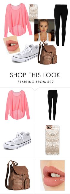 """""""Fall Casual"""" by libbyweitkamp ❤ liked on Polyvore featuring Victoria's Secret, Max Studio, Converse, Casetify, H&M and Charlotte Tilbury"""