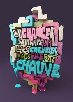 Les typographies 3D au service du style génial de Christopher Labrooy