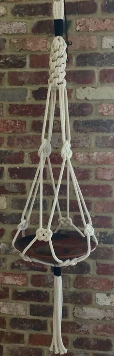 Macrame fruit bowl/plant hanger- Handmade natural cotton macrame. Visit Lorna and Lila on Facebook