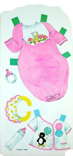 Paper Dolls~Cuddley Baby - Bonnie Jones - Picasa Web Albums - black / African-American / person of color infant girl paperdoll