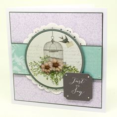 Made by Clare Curd using The Birds and Blooms Collection by Craftwork Cards.