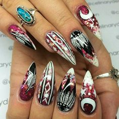 I love the design but I'm not a fan of stiletto shaped nails.