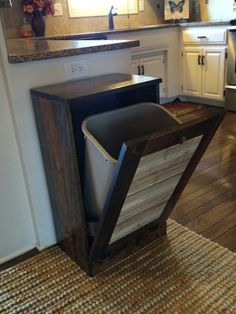 ON SALE Rustic tilt out trash bin can reclaimed by Lovemade14